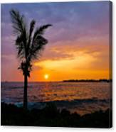 Oneo Bay Sunset Canvas Print
