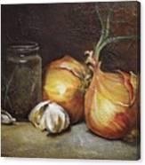 Onions And Garlic  Canvas Print