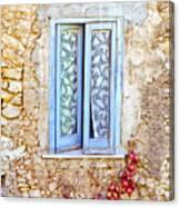 Onions And Garlic On Window Canvas Print