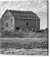 Ontario Farm 4 Bw Canvas Print