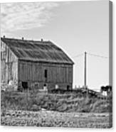 Ontario Farm 5 Bw Canvas Print