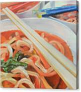Oodles And Noodles, 2017 Canvas Print