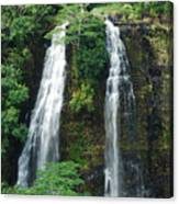 Opaekaa Waterfall Canvas Print
