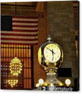 Opal Atomic Clock At Grand Central Canvas Print