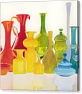Opaque Glass Transparent Watercolor Canvas Print