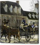 Open Carriage Ride In Colonial Williamsburg Virginia Canvas Print