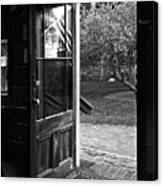 Open Door B-w Canvas Print