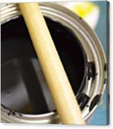 Open Paint Can With Brush Canvas Print