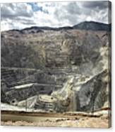 Open Pit Mine, Utah, United States Canvas Print