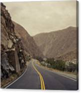 Open Road Through The Canyon Canvas Print