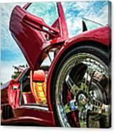 Open Sesame Red - Lamborghini Diablo  Canvas Print
