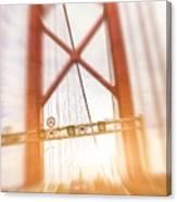 Open Traffic Lane On A Bridge Canvas Print
