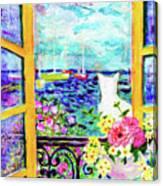 Open Window-colours Canvas Print