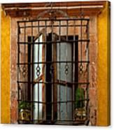 Open Window In Ochre Canvas Print