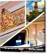 Opera House Diagonal Collage Canvas Print