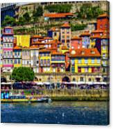 Oporto By The River Canvas Print