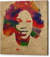 Oprah Winfrey Vintage 1978 Watercolor Portrait Canvas Print