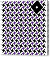 Optical Illusion Purple Black Flag 4. Canvas Print