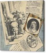 Optical Illusion With Prints And Pamphlets, L. Groskopf, C. 1746 Canvas Print