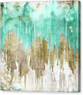 Opulence Turquoise Canvas Print