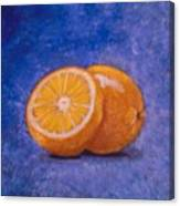 Orange And A Half Canvas Print
