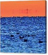 Orange And Blue Morning 4  Canvas Print