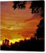 Orange And Yellow Sunset Canvas Print