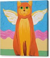 Orange Angel Cat Canvas Print