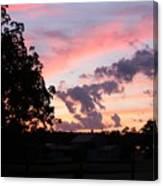 Orange-aubergine Sky Canvas Print