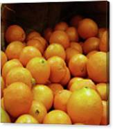 Orange Basket Canvas Print