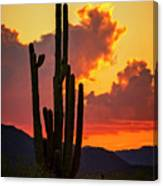 Orange Beautiful Sunset  Canvas Print