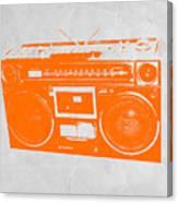 Orange Boombox Canvas Print