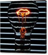 Orange Bulb Canvas Print