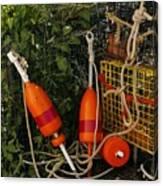 Orange Buoys, Nautical, Marblehead, Ma Canvas Print