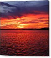 Orange Burst At Daybreak Canvas Print