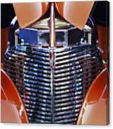Orange Chevrolet Grille Canvas Print