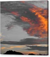 Orange Clouds Canvas Print