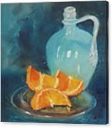 Orange Complement Canvas Print