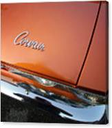 Orange Corvair Canvas Print