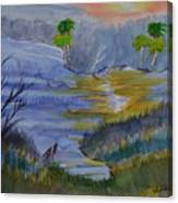 Orange Creek At Sunrise Canvas Print