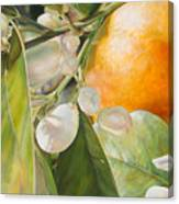 Orange Fleurie Canvas Print