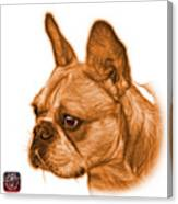 Orange French Bulldog Pop Art - 0755 Wb Canvas Print