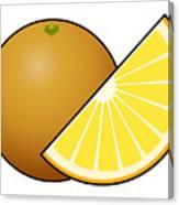 Orange Fruit Outlined Canvas Print