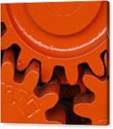 Orange Gear 2 Canvas Print