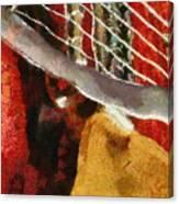 Orange Guitar Canvas Print