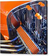 Orange Hot Rod Stacks Canvas Print