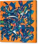 Orange Is The New Black Canvas Print