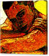 Orange Man Canvas Print