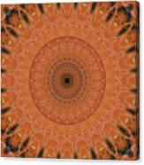 Orange Mandala Canvas Print