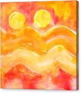 Orange Moons Canvas Print